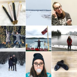 see heather smile, 9 picture grid, winter, woman, smile, scenery, water
