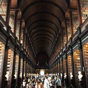 trinity college, library, see heather smile, dublin, ireland, history, books, humanities degree, university, learning, education, shelves, arch