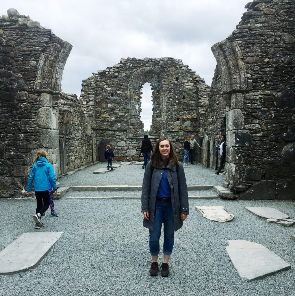 see heather smile, monastic ruin, cathedral ruin, interior of church, old cathedral, ireland, travel