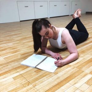 dancer, writing, notebook, see heather smile, choreographer, checklist, create, creative, performing arts, stage