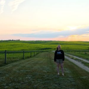 see heather smile, prairie, sunset, sky, plains, dirt road, old town road,