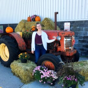 see heather smile, fall, autumn, fall tractor, tractor, pumpkin, hay bale, fall flowers, harvest, harvest moon