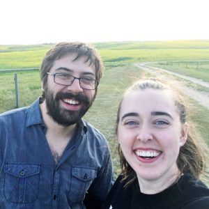 see heather smile, smile, selfie, field, prairie, man and woman, together, gratitude
