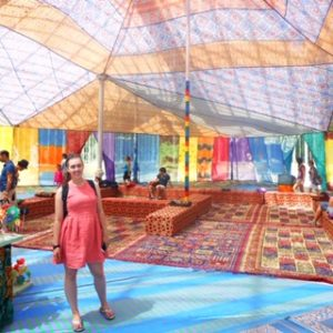see heather smile, rainbow, linen, tent, rugs, colorful, colourful
