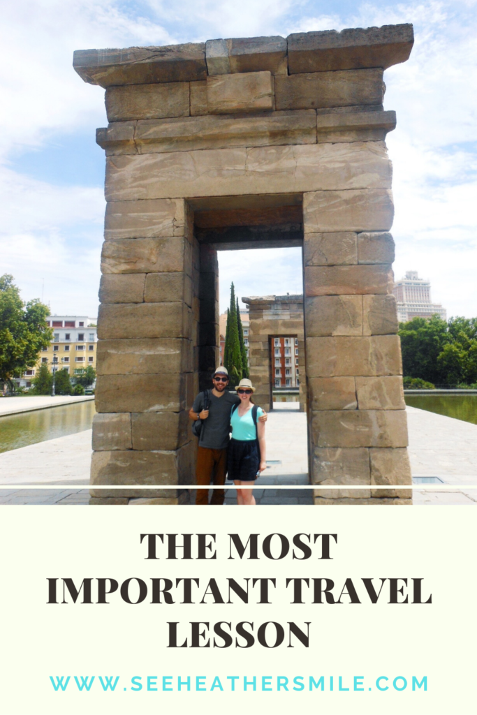 see heather smile, travel lesson, traveling, temple of dubod, madrid, spain