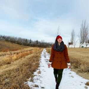 heather hataley, walking, winter, fall, spring, outside, nature