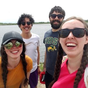 see heather smile, four friends, friends, laughing, laughter, lake, summer, river, reservoir