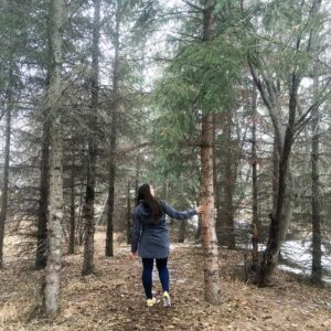 see heather smile, heather hataley, walking, forest, spring, woods